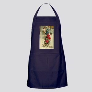 Christmas Kids Sledding Apron (dark)